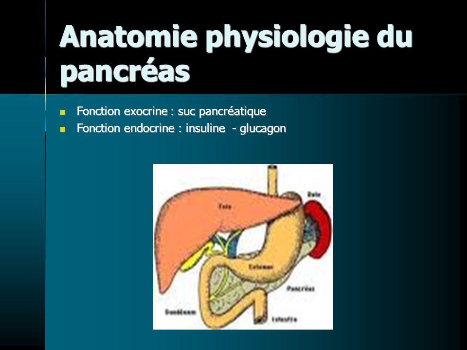 Anatomie physiologie du pancréas