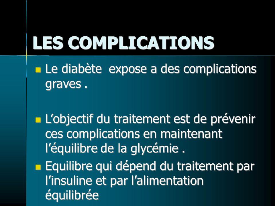 LES COMPLICATIONS Le diabète expose a des complications graves .