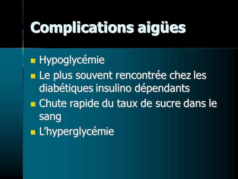 Complications aigües Hypoglycémie