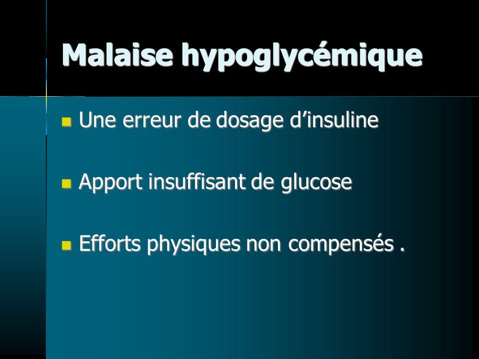 Malaise hypoglycémique