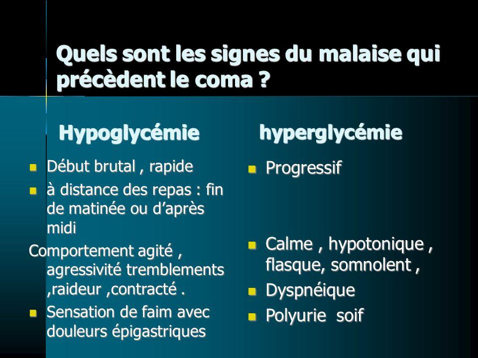 Quels sont les signes du malaise qui précèdent le coma