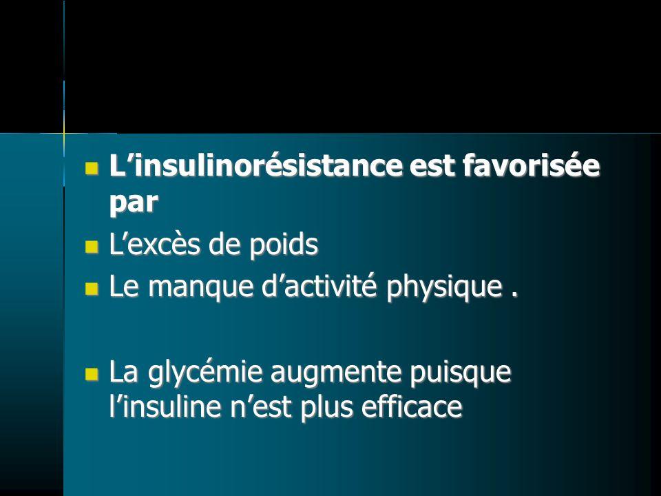 L'insulinorésistance est favorisée par