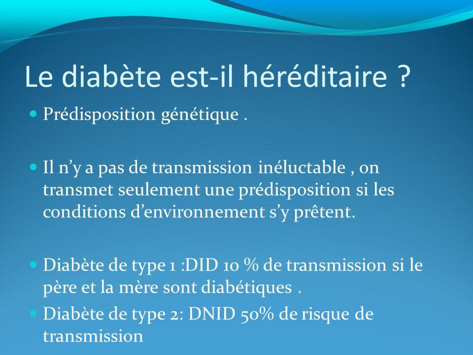 Le diabète est-il héréditaire