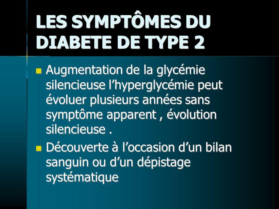 LES SYMPTÔMES DU DIABETE DE TYPE 2
