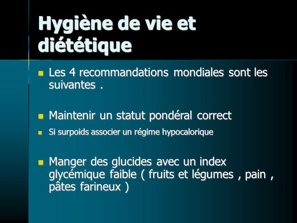 Hygiène de vie et diététique