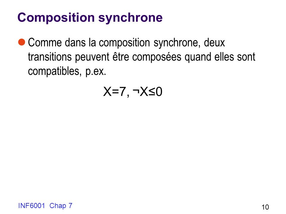 Composition synchrone