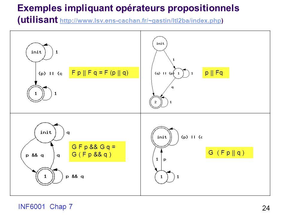 Exemples impliquant opérateurs propositionnels (utilisant http://www