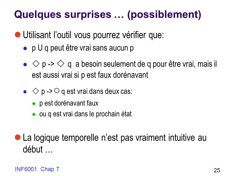 Quelques surprises … (possiblement)