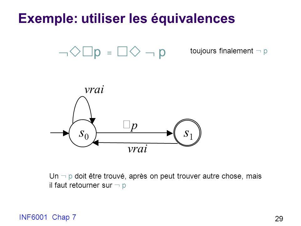 Exemple: utiliser les équivalences