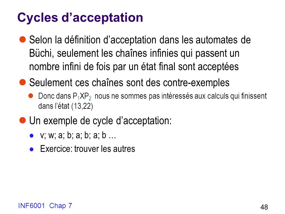 Cycles d'acceptation