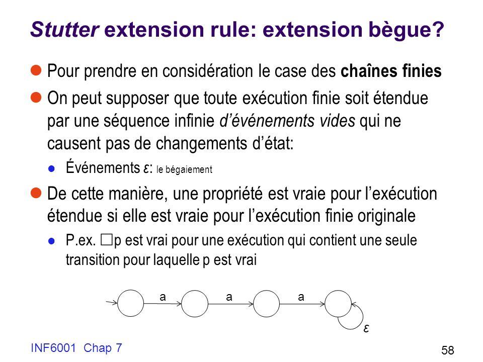 Stutter extension rule: extension bègue