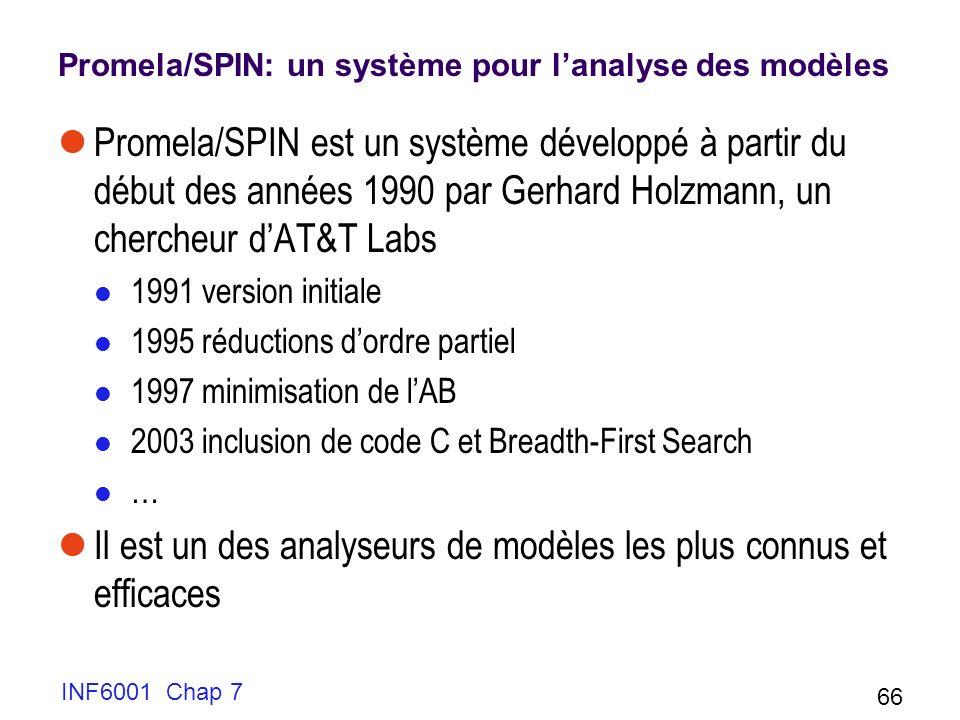 Promela/SPIN: un système pour l'analyse des modèles
