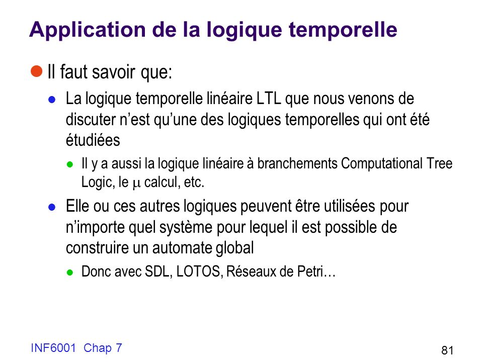 Application de la logique temporelle