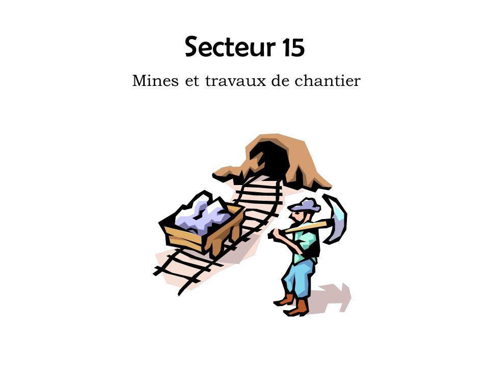Mines et travaux de chantier