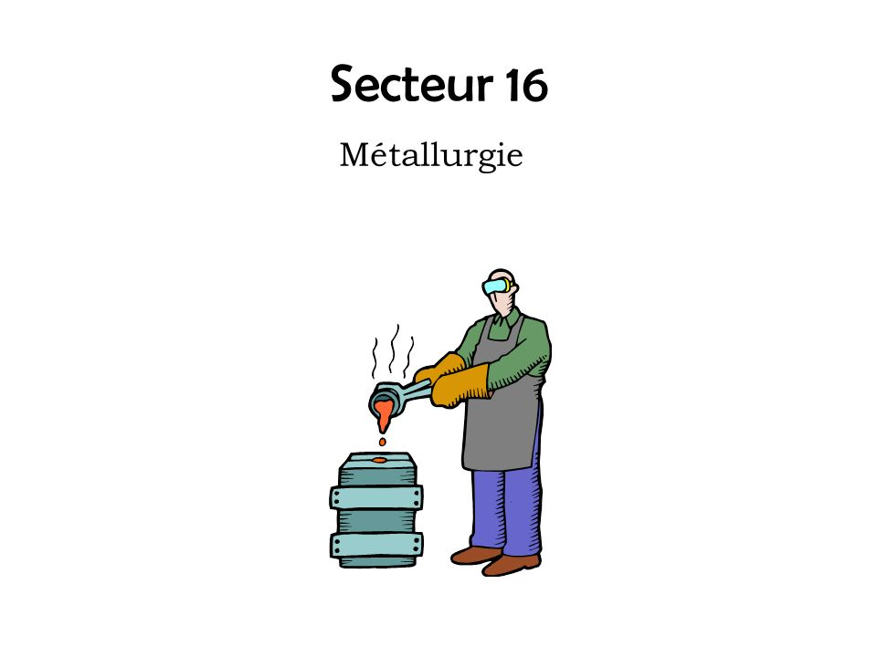 Secteur 16 Métallurgie