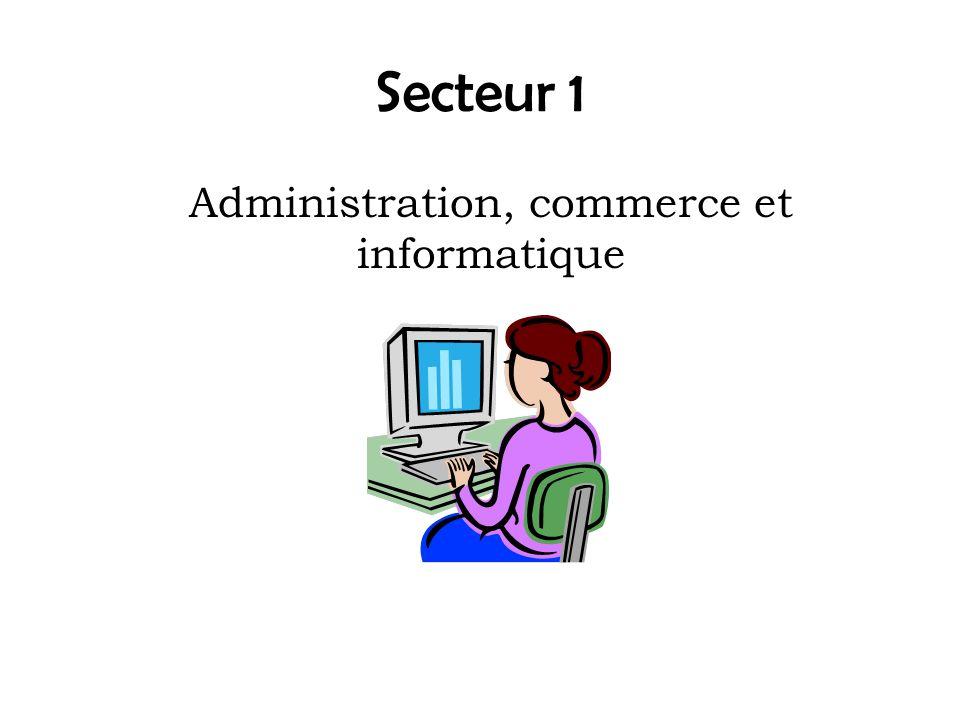 Administration, commerce et informatique