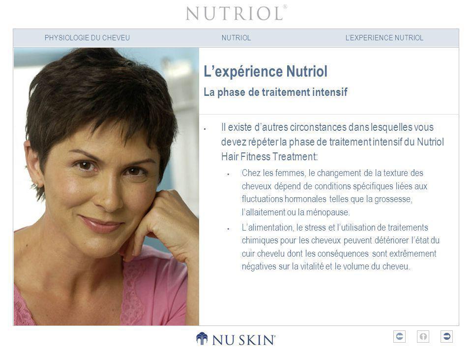 L'expérience Nutriol La phase de traitement intensif