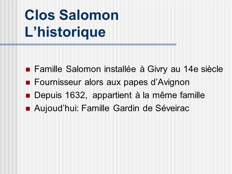 Clos Salomon L'historique