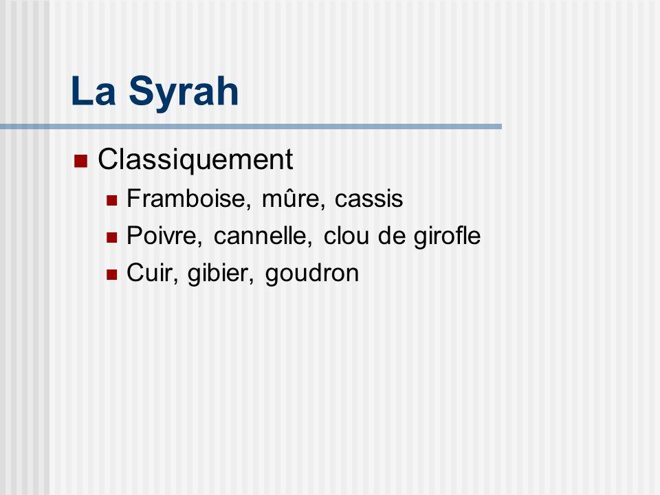 La Syrah Classiquement Framboise, mûre, cassis