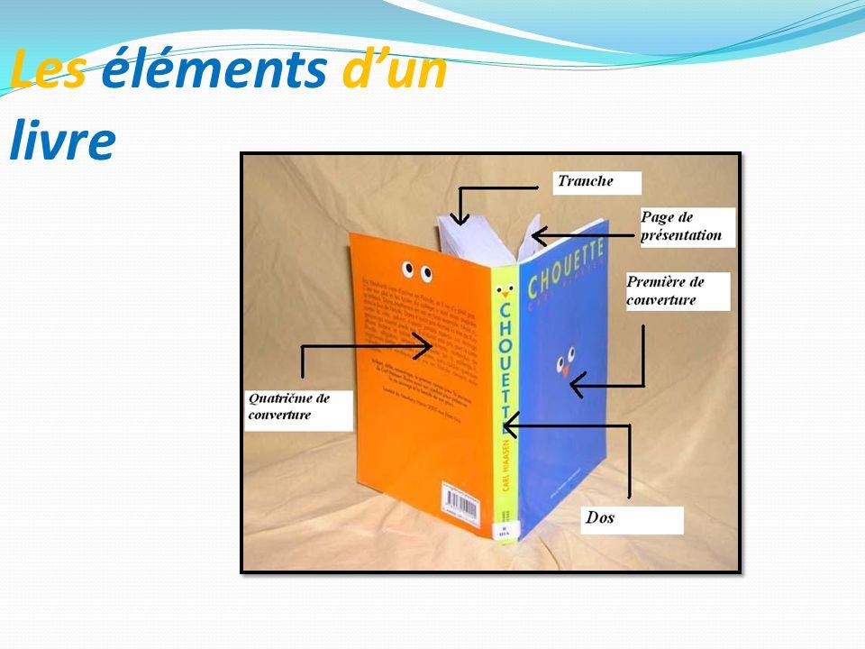 Les éléments d'un livre