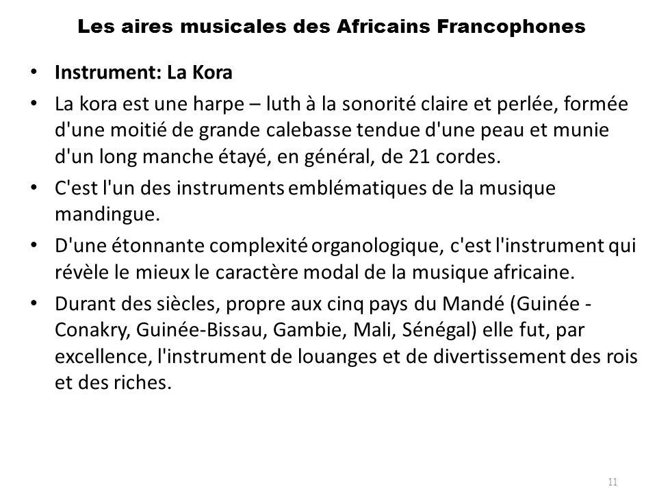 Les aires musicales des Africains Francophones