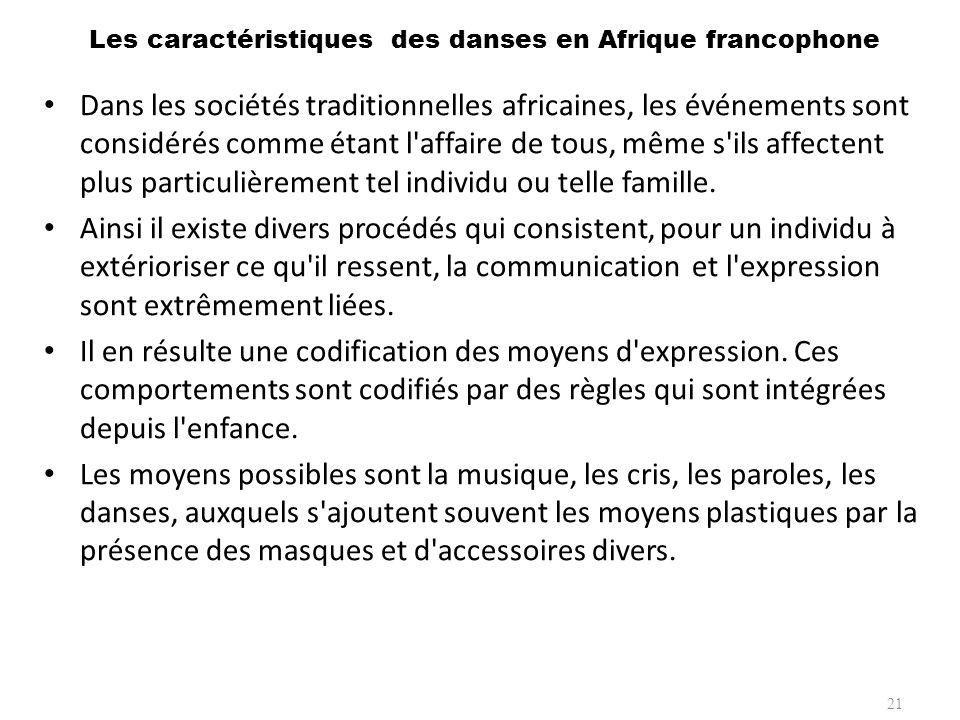 Les caractéristiques des danses en Afrique francophone