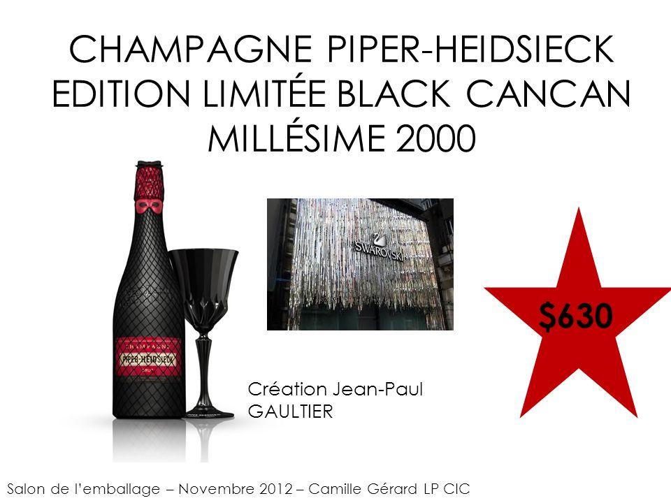 CHAMPAGNE PIPER-HEIDSIECK EDITION LIMITÉE BLACK CANCAN MILLÉSIME 2000