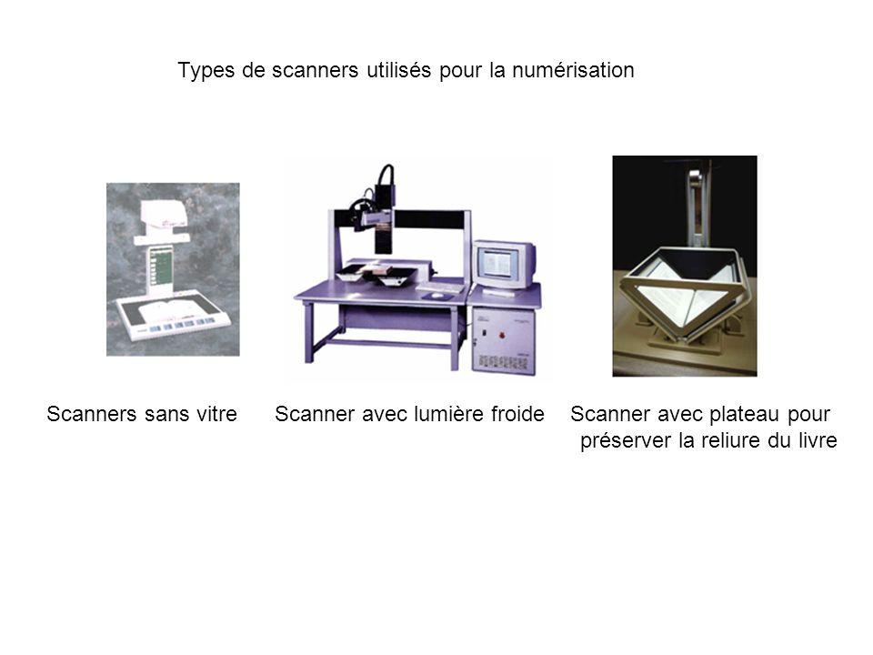 Types de scanners utilisés pour la numérisation