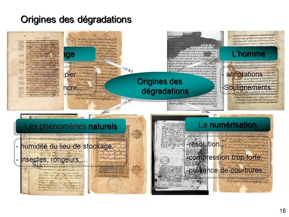 Origines des dégradations