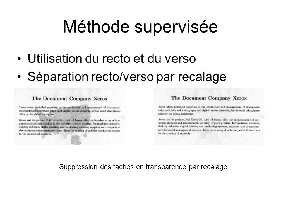 Méthode supervisée Utilisation du recto et du verso