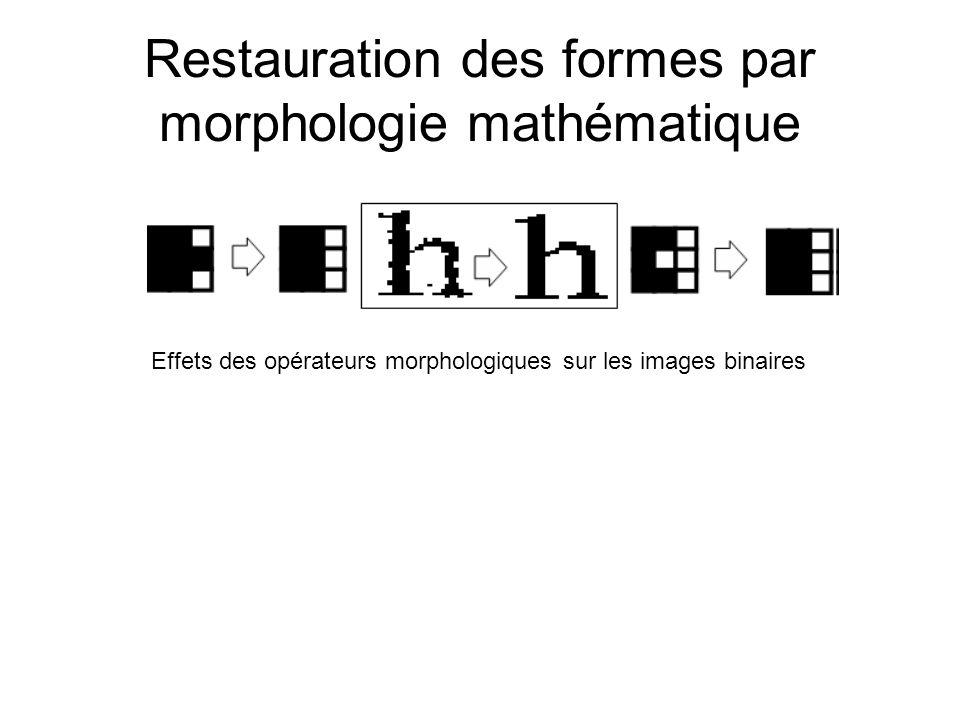 Restauration des formes par morphologie mathématique