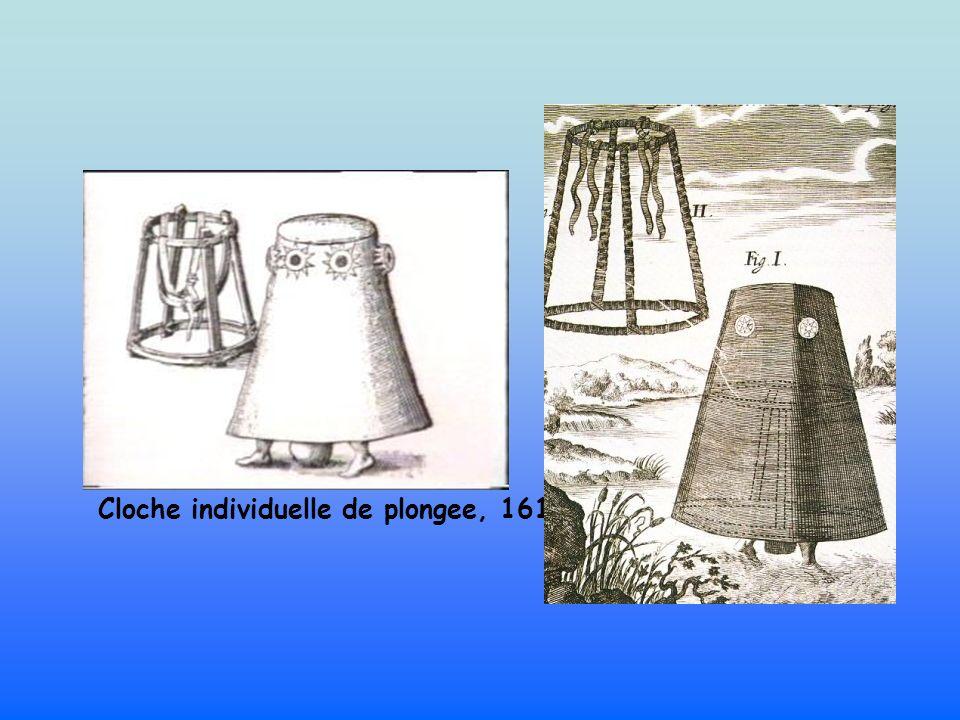 Cloche individuelle de plongee, 1616