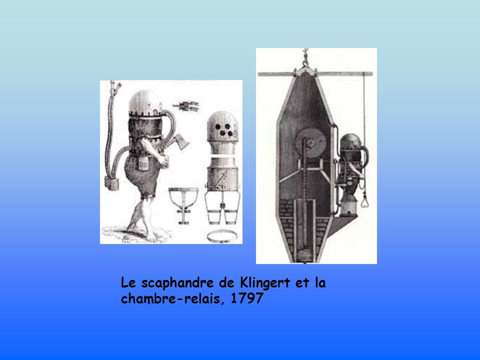 Le scaphandre de Klingert et la chambre-relais, 1797