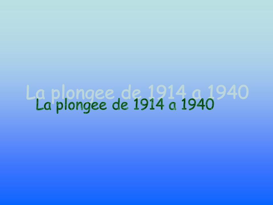 La plongee de 1914 a 1940