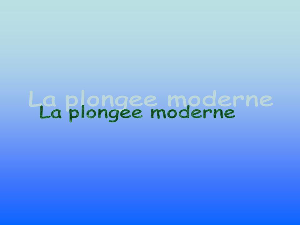 La plongee moderne