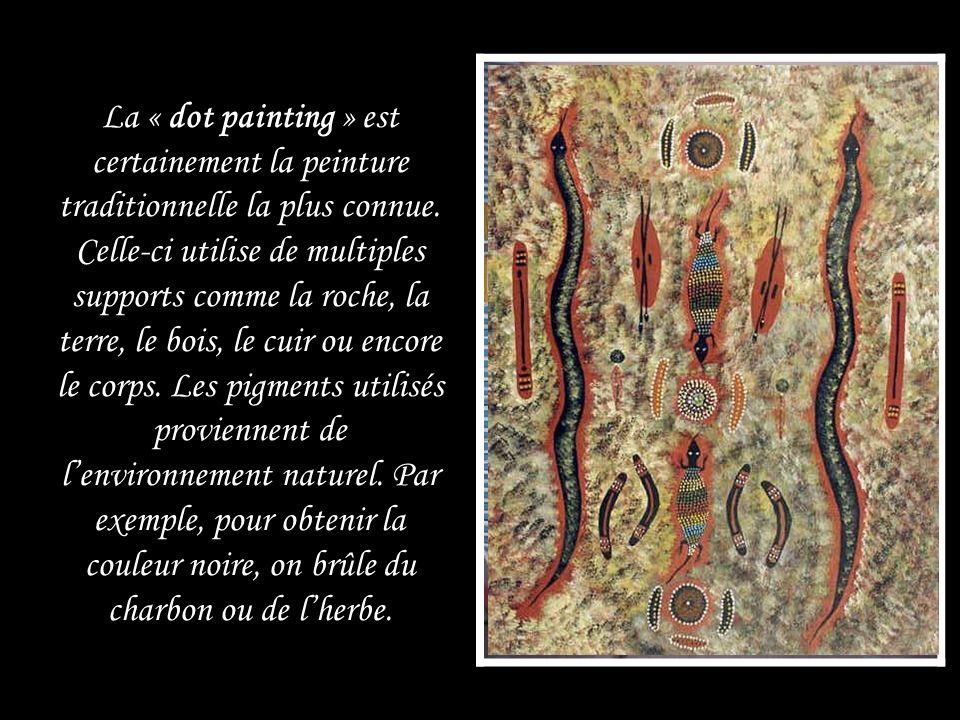 La « dot painting » est certainement la peinture traditionnelle la plus connue.