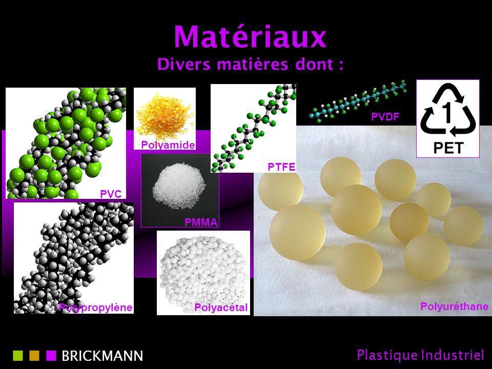 Matériaux Divers matières dont :
