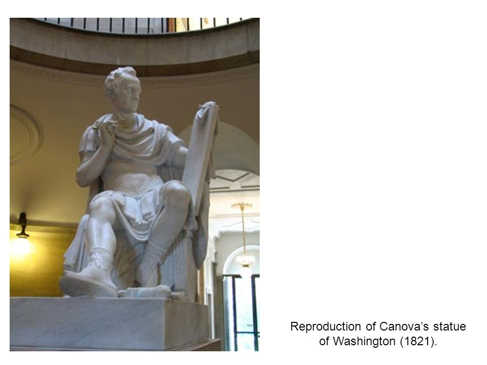 Reproduction of Canova's statue