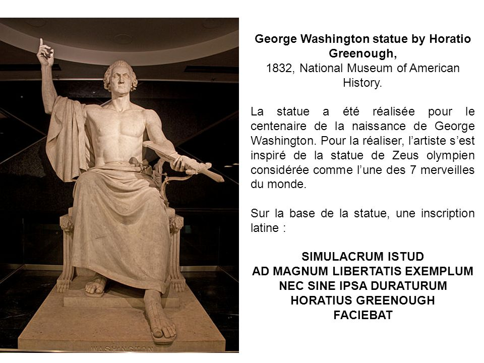 George Washington statue by Horatio Greenough,