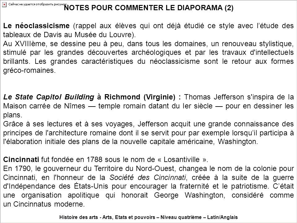 NOTES POUR COMMENTER LE DIAPORAMA (2)