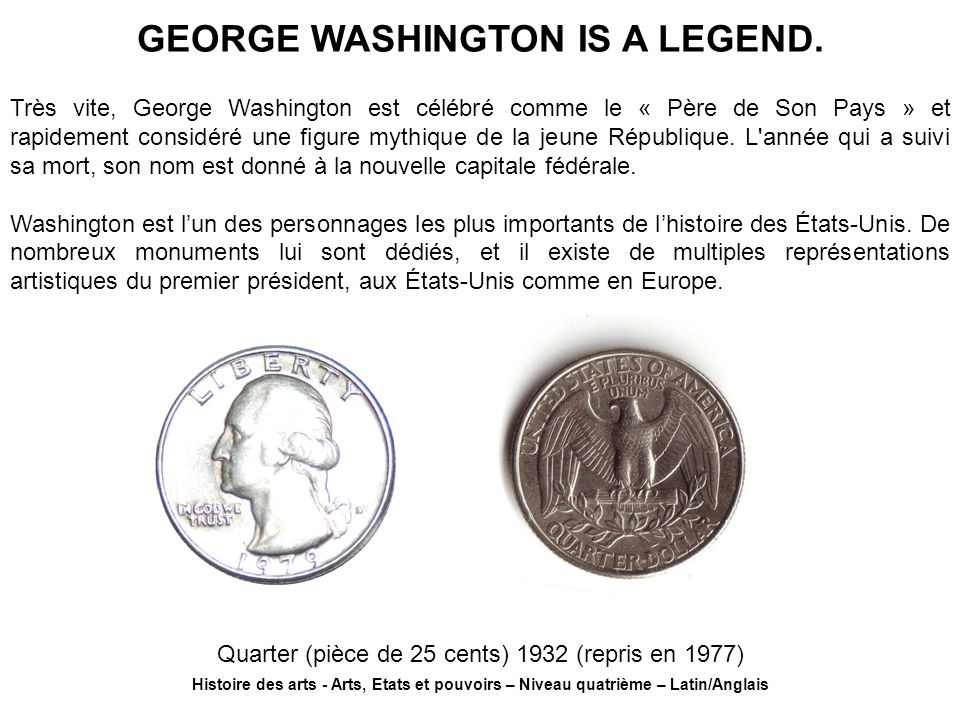 GEORGE WASHINGTON IS A LEGEND.