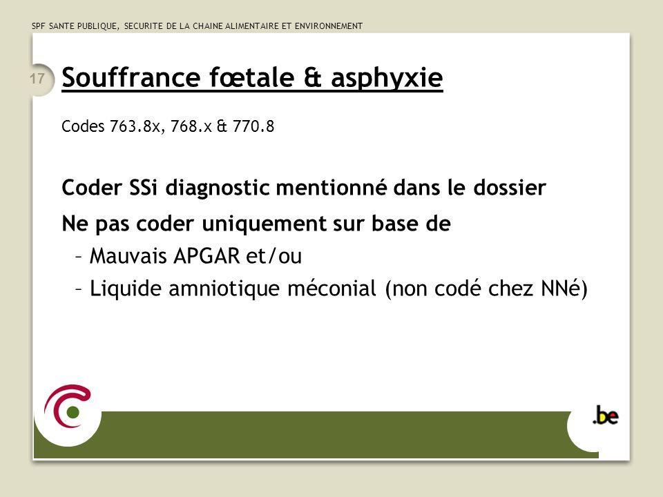 Souffrance fœtale & asphyxie