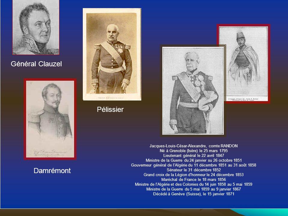 Général Clauzel Pélissier Damrémont