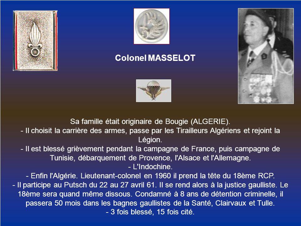 Sa famille était originaire de Bougie (ALGERIE).
