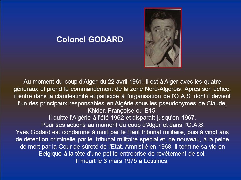 Colonel GODARD