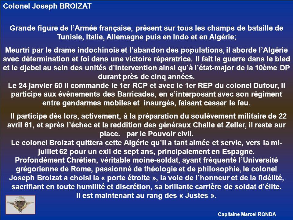 Capitaine Marcel RONDA