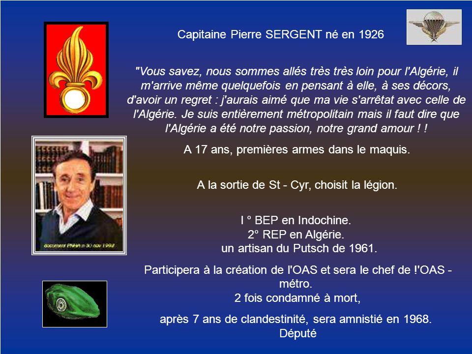 Capitaine Pierre SERGENT né en 1926