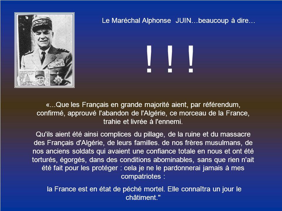 Le Maréchal Alphonse JUIN…beaucoup à dire…