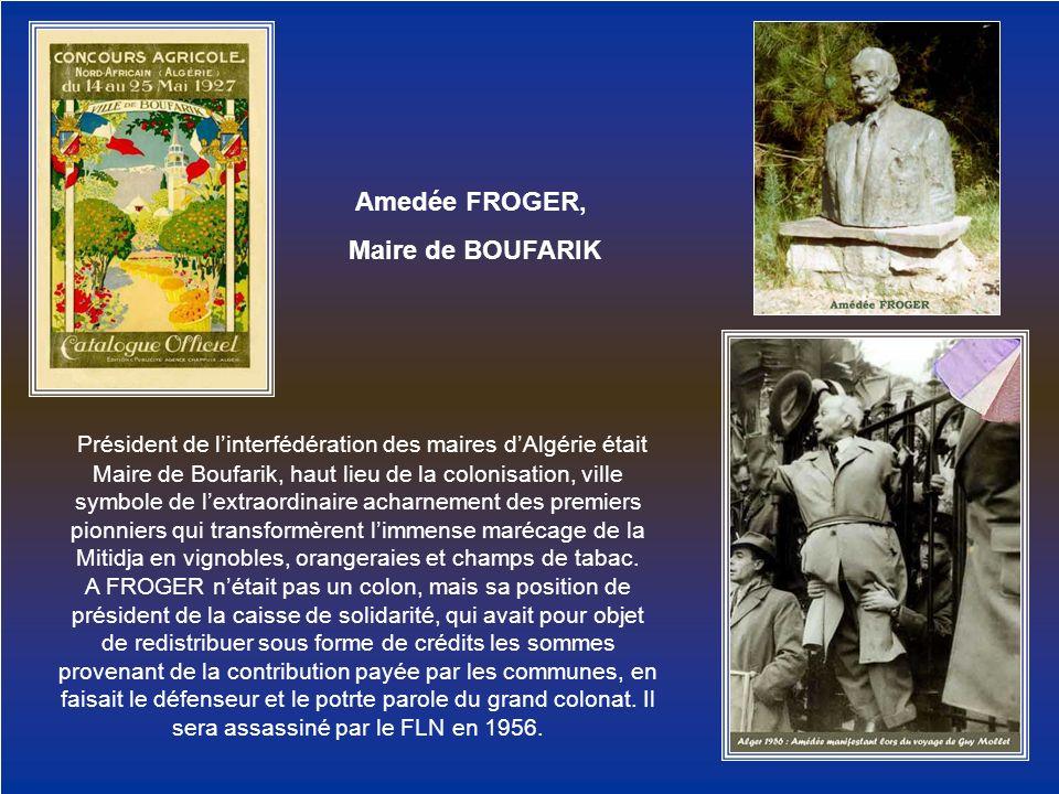 Amedée FROGER, Maire de BOUFARIK.
