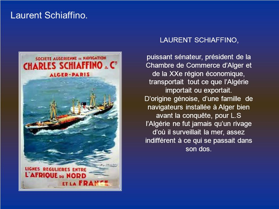Laurent Schiaffino. LAURENT SCHIAFFINO,